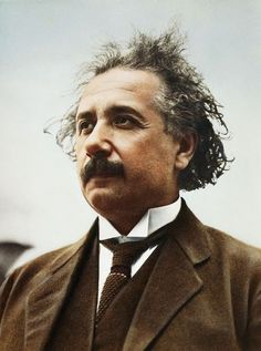 """A color photo from the early century showing Einstein at about the time he received the Nobel Prize in physics. More """"rare and iconic"""" photos of Einstein at the link. Iconic Photos, Rare Photos, Albert Einstien, Nobel Prize In Physics, Modern Physics, Theory Of Relativity, E Mc2, Charles Darwin, Physicist"""