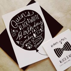 Here's a black & white themed b'day party invitation #design. Wouldn't you wanna go? :)