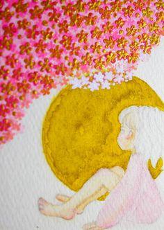 上部、色がうるさいですが、盛り上げ剤のための金色と、のちに混ざってしまうのを予測したきつめのピンクです。 あとですべて塗り替えます。 女の子の服も下地なので、黒の予定。 #ガチ制作会 #ATCつくりました pic.twitter.com/nkwiqOukMr