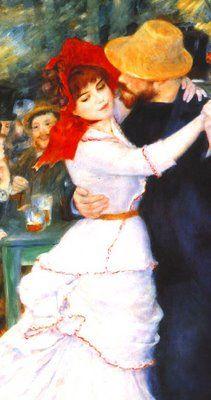 Dança em Bougival,Renoir.