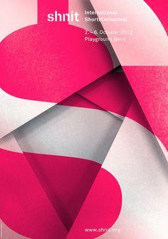 typography: International Short Film Festival Posters 2013-10, Bern, Switzerland