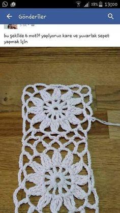 How to Crochet a Solid Granny Square Crochet Mandala, Crochet Motif, Crochet Designs, Crochet Flowers, Crochet Lace, Crochet Stitches, Free Crochet, Fingerless Gloves Crochet Pattern, Crochet Cardigan Pattern