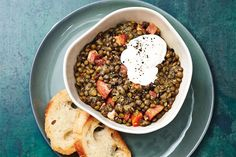 Slow Cooker Lentil and Kielbasa Stew—To save time in the morning, prep and chop all the ingredients for this stew the night before so all you have to do is toss them in your slow cooker and turn it on before heading out the door. Serve with crusty bread for a simple, hearty meal.