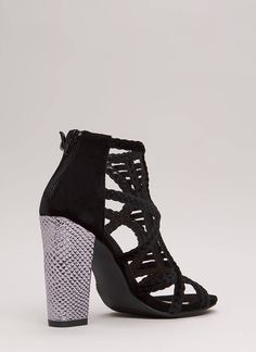 9c0bcb7bfba Braided Beauty Caged Chunky Heels