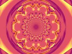 Calm Orange  Lotus Mandala 1