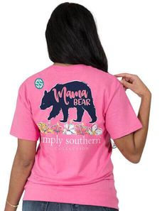 d7b5698b0e25 Simply Southern Preppy Collection Mama Bear Strawberry T-shirt for Women