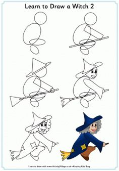 Learn to Draw a Witch 2