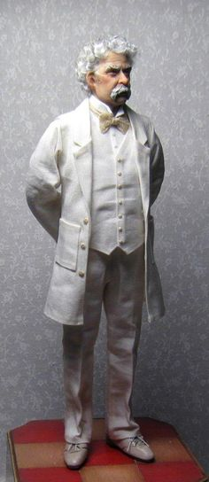 Mark Twain by Sharon Cariola. I love the fold lines and wrinkles.