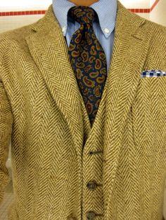 Jacket + Vest - Rugby | Shirt + Tie - PRL | PS - J.Crew