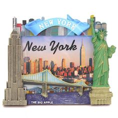 New York City Picture Frame for 4x6 Photos from NYC Photo Frames Collection (6.75' Tall) ** Continue to the product at the image link-affiliate link. #PictureFrames