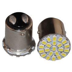 1.20$  Buy here - http://ali2t8.shopchina.info/go.php?t=32601494779 - 2PCS/Lot 1157 BAY15d 22-SMD White LED Car Stop Tail Turn Brake Light Lamp Bulb 1.20$ #buymethat