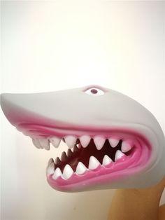 2017 latest Model Big White Shark Head Glove Shark Alive Hand Puppet for Child  #Unbranded