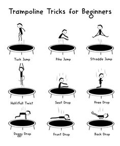 Cool trampoline tricks are a great way to challenge the body and impress friends. Here are the basic trampoline tricks for beginners. #ad