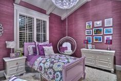 Contemporary Kids Bedroom with Woodbridge Home Designs 875 Series 2 Drawer Nightstand, Exposed beam, Hardwood floors