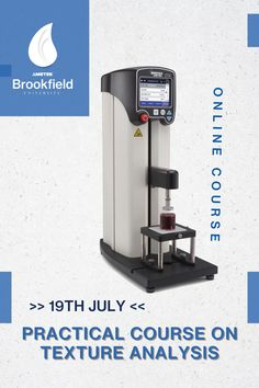 Learn industry-accepted test methods to perform texture analysis on foods, cosmetics, pharmaceuticals, packaging, mechanical materials, and more. Attend AMETEK Brookfield University's Practical Course on Texture Analysis. Date: 19th July ✔️This class demonstrates how to test for flow behaviour using compression and tension. To enrol, please contact brookfield-support.de@ametek.com. University Courses, Center Of Excellence, Training Schedule, Flow, Centre, Europe, Packaging, Cosmetics, Learning
