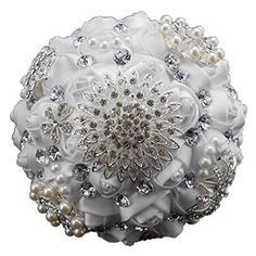 Engerla Handmade Customized Crystal Diamond Pearl Rhinestone Brooch Bridal >>> Learn more by visiting the image link.