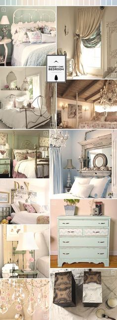 Shabby Chic Bedrooms with great use of fireplaces and chandeliers