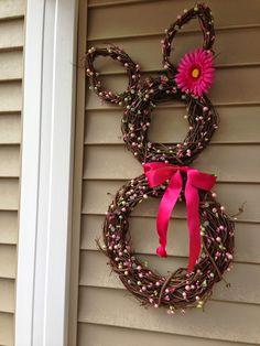 cheryl's blog: Grapevine Bunny Wreath