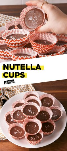 Best Nutella Cups Recipe - How to Make Nutella Cups Just Desserts, Delicious Desserts, Dessert Recipes, Yummy Food, Candy Recipes, Dessert Ideas, Nutella Snacks, Nutella Recipes, Gluten Free Chocolate