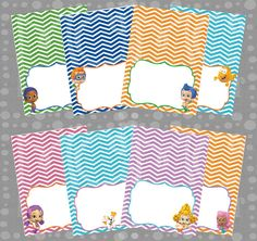 INSTANT DOWNLOAD - Bubble Guppies (Boy & Girl) Printable Birthday Food Labels/Tent Cards - YOU Print