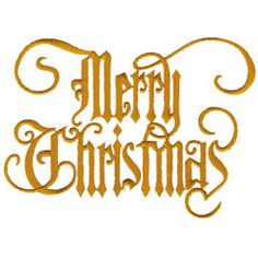 Great Notions Embroidery Design: MERRY CHRISTMAS 6.46 inches H x 4.66 inches W