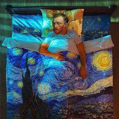 Bedtime for Van Gogh. #art #artist #vangogh
