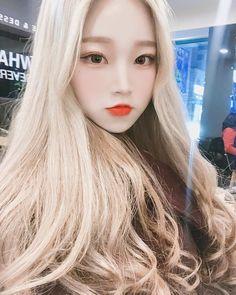 ㅇㅂㅇ 🍕 Pretty Korean Girls, Cute Korean Girl, Asian Girl, Korean Beauty, Asian Beauty, Blonde Hair Dark Eyes, Blonde Asian, Chica Cool, Ulzzang Korean Girl