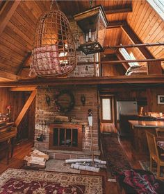 A Frame Cabin, A Frame Homes, Living Room Cabin, Living Rooms, House Rooms, Cabin On The Lake, Cabin Loft, Cozy Cabin, Fox Home