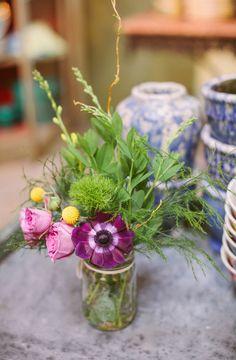 flowers anemone viola