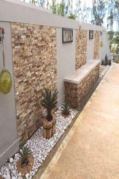 Backyard Patio Designs, Small Backyard Landscaping, Landscaping Ideas, Backyard Ideas, Backyard Pools, Exterior Wall Design, Modern Fence Design, Privacy Fence Designs, Outdoor Gardens