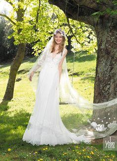 vestido de noiva com veu hippie yolancris boho chic 2015