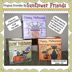 Halloween Cupcake Boxes [Sunflower Friends]