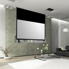 PANTALLA LUMENE SHOW PLACE. The Showplace screen is designed for installation in a false ceiling in order to disappear completely when not in use. Using the same ultra integrated control system of the Majestic and a Somfy motorization system, this screen offers the absolute best for prestige installations. #pantalla #pantallamotorizada #homecinema #Lumene