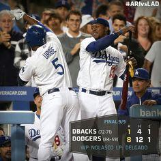 Dodgers demolish Diamondbacks 8-1 Win...