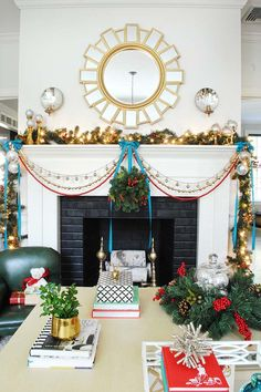 Creating Classic Christmas Decor with Red, Green and Blue Accents