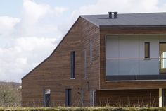 aart a/s, Helene Høyer Mikkelsen · The Comfort Houses Green Architecture, Concept Architecture, Sustainable Architecture, Sustainable Design, Contemporary Architecture, Eco Friendly Environment, Passive House, Big Windows, Modern House Design
