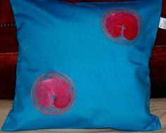 Personalized Pillow Cover Handpainted Blue por HandpaintedArcsArt