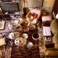 Drums in the living room