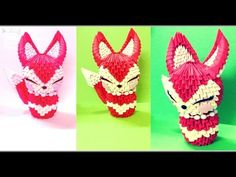 3D Origami - Lady Fox - YouTube