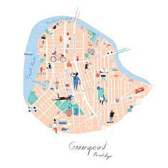 Map of Greenport, Brooklyn - Libby VanderPloeg