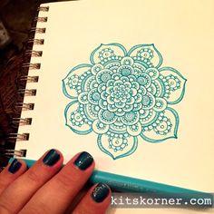 Sketchbook : Mandalas #144 @ kitskorner.com