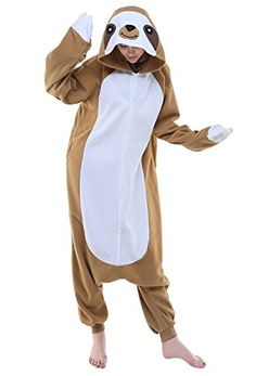 BELIFCOS Unisex Plush Pajamas One Piece Cosplay Holiday CostumeLsloth * Check this awesome product by going to the link at the image-affiliate link.