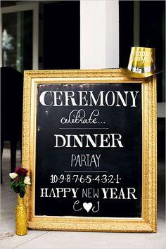 On-Site Wedding Receptions | New Year's Eve Glitzy & Glam Wedding