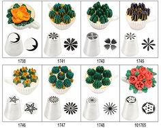 Amazon TANGCHU 絞り口金 製菓道具 シュガークラフト ケーキデコレーション口金 花型作成器 ステンレス製 Lサイズ 口径約2.2センチ 口金 オンライン通販