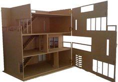 Simple wood doll house plans plans diy free download log for Casa moderna kidkraft