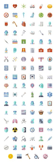 Medical flat icons Flat Design Icons, Flat Icons, Icon Design, Logo Clipart, Health Icon, Sign System, Flat Logo, Medical Icon, Powerpoint Template Free