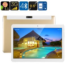3G Android Tablet PC - Android 5.1, Dual-IMEI, Google Play, OTG, Quad-Core CPU, 9.6-Inch IPS Display, 4500mAh - 3G Android tablet PC with Dual-IMEI numbers keeps you connected anywhere you go. The perfect Android tablet computer to enjoy mobile entertainment.