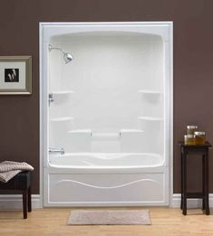 One Piece Shower Insert. Liberty 60 Inch Acrylic Tub And Shower Whirlpool   Left Hand