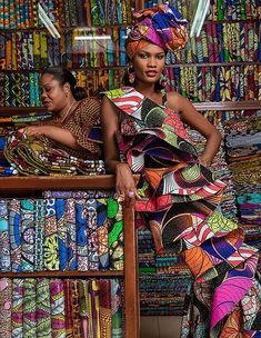 This African fashion dress is a work of art in ankara style. With a matching african print headwrap Decorate First Home, African Textiles, African Prints, African Fabric, Simple Living Room Decor, Style Africain, African Fashion, African Outfits, African Clothes