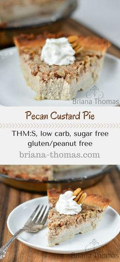 THM:S, low carb, sugar free, gluten/peanut free. Use more THM Baking Blend in place of the mentioned baking mix. Sugar Free Custard Recipe, Custard Recipes, Low Carb Recipes, Healthy Recipes, Custard Desserts, Healthy Treats, Healthy Foods, Yummy Recipes, Healthy Life
